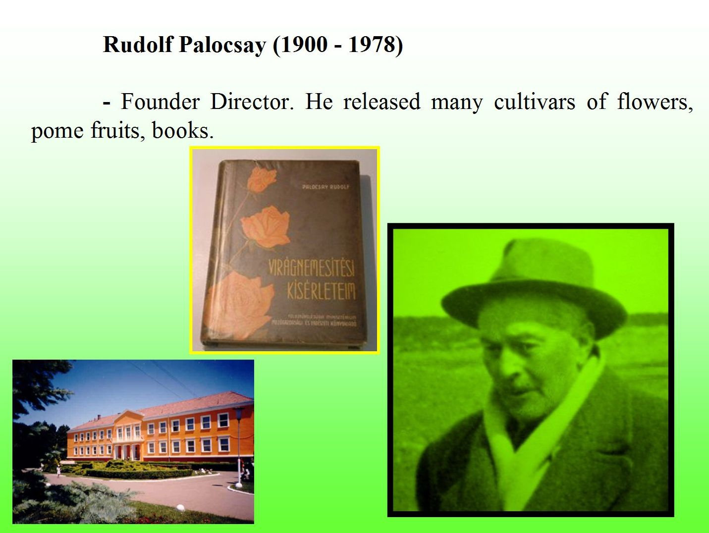 Apple and pear breeding in Cluj-Napoca, history - Rudolf Palocsay