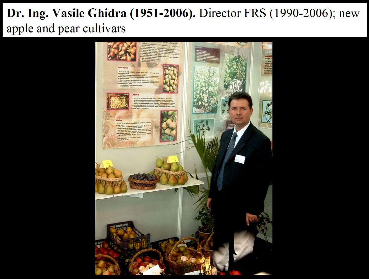 Dr. Vasile Ghidra (1951-2006) - director FRS Cluj
